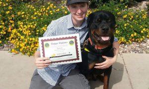 Tùng Lộc Pet – Chú chó Rottweiler chăm sóc cho chủ nhân bị hội chứng rối loạn tự kỷ