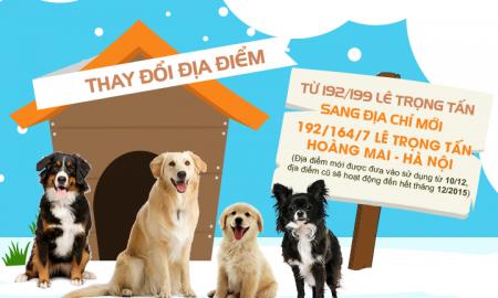 Tùng Lộc Pet – Thông báo chuyển địa điểm tại Hà Nội